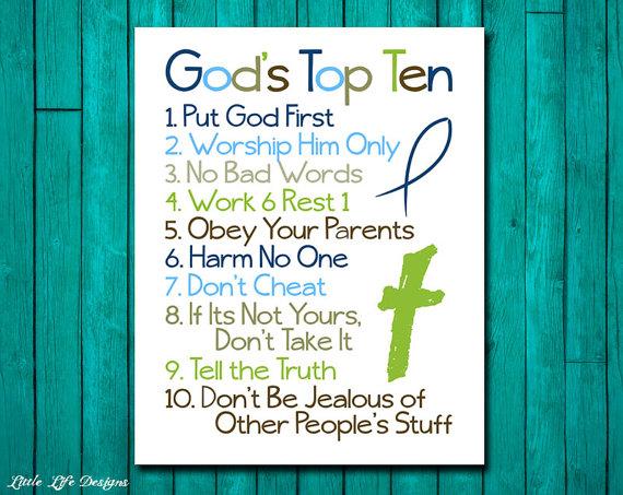 Gods top 10